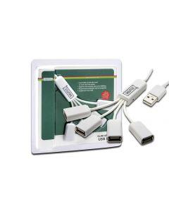 HUB DIGITUS USB 2.0 4X USB A/H 1X USB A MACHO AUTOALIMENTADO DC 2,5MM