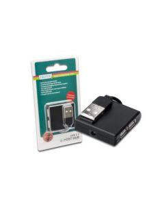 HUB DIGITUS USB 2.0 4X USB A/F 1X USB B MINI/M