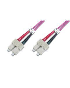 CABLE CONEXION FIBRA OPTICA DIGITUS MM OM4 SC a SC 50/125 1m