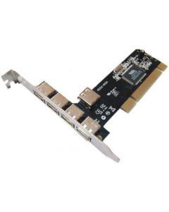 TARJETA EXPANSION DIGITUS PCI USB 2.0 5x USB 4 externos 1 interno